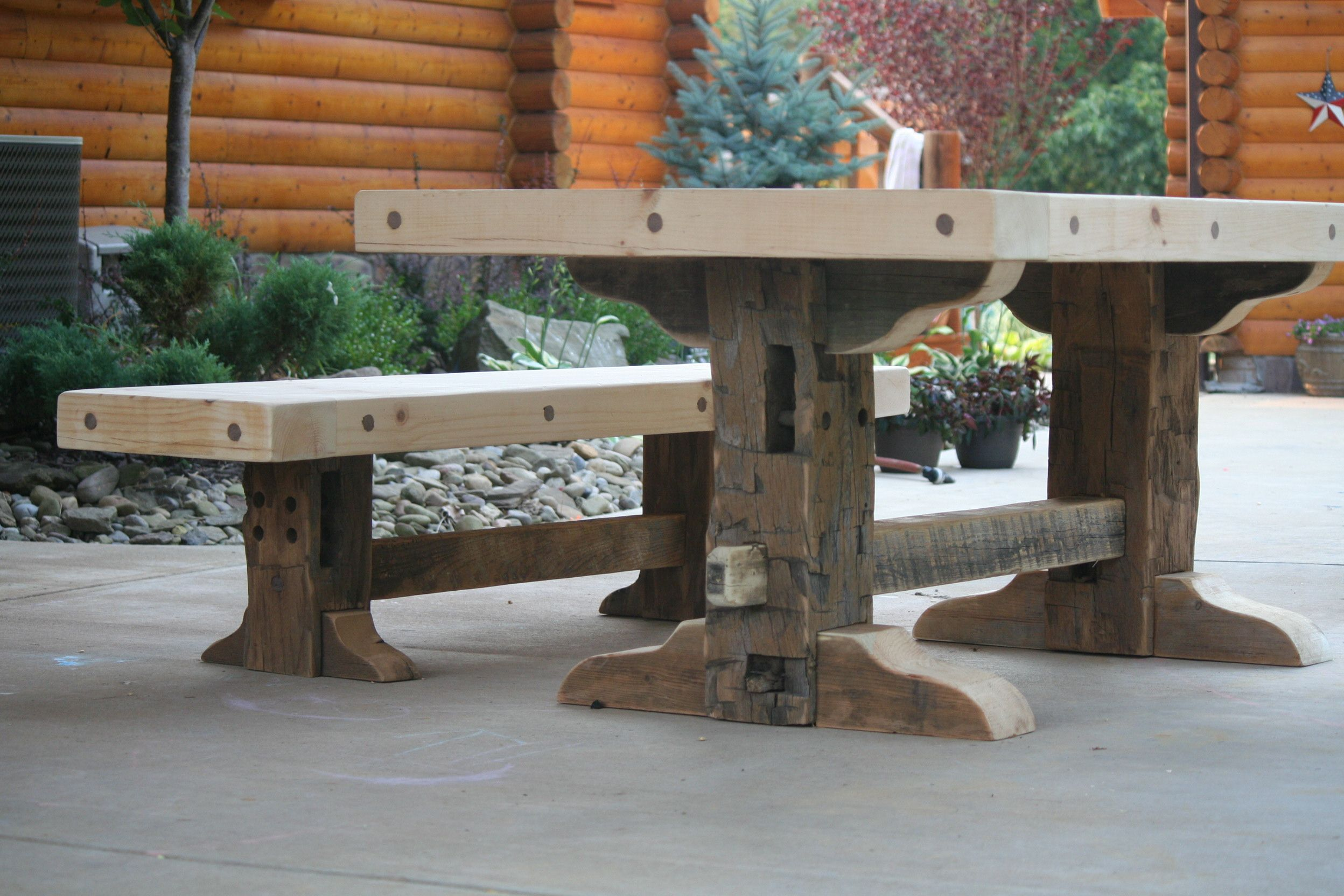 Heath made another (unfinished) table :)