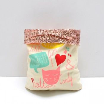 'Chat' tote bag with sequins