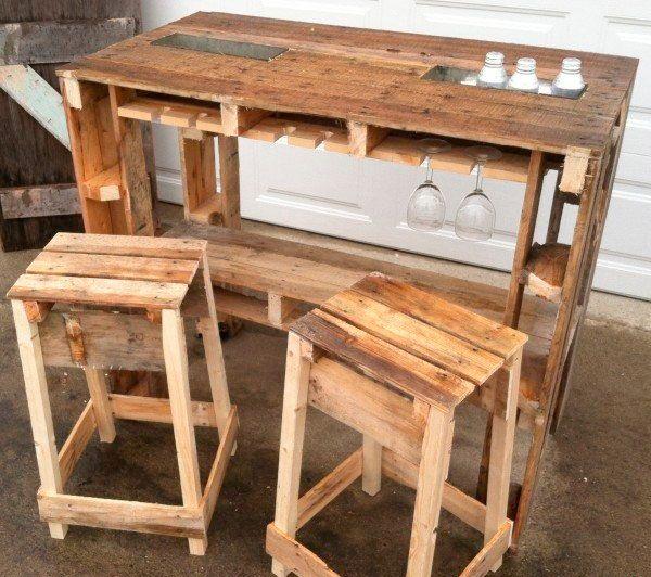 34 astuces ingénieuses pour transformer les palettes de bois en