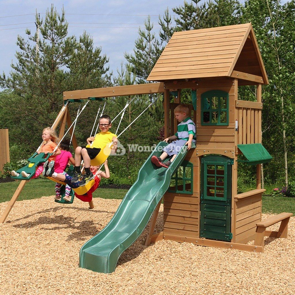 Drewniany Plac Zabaw Windale Kidkraft Swb26405e Zabawki Ogrodowe Place Zabaw Wooden Swing Set Playset Outdoor Swing Set Playhouse