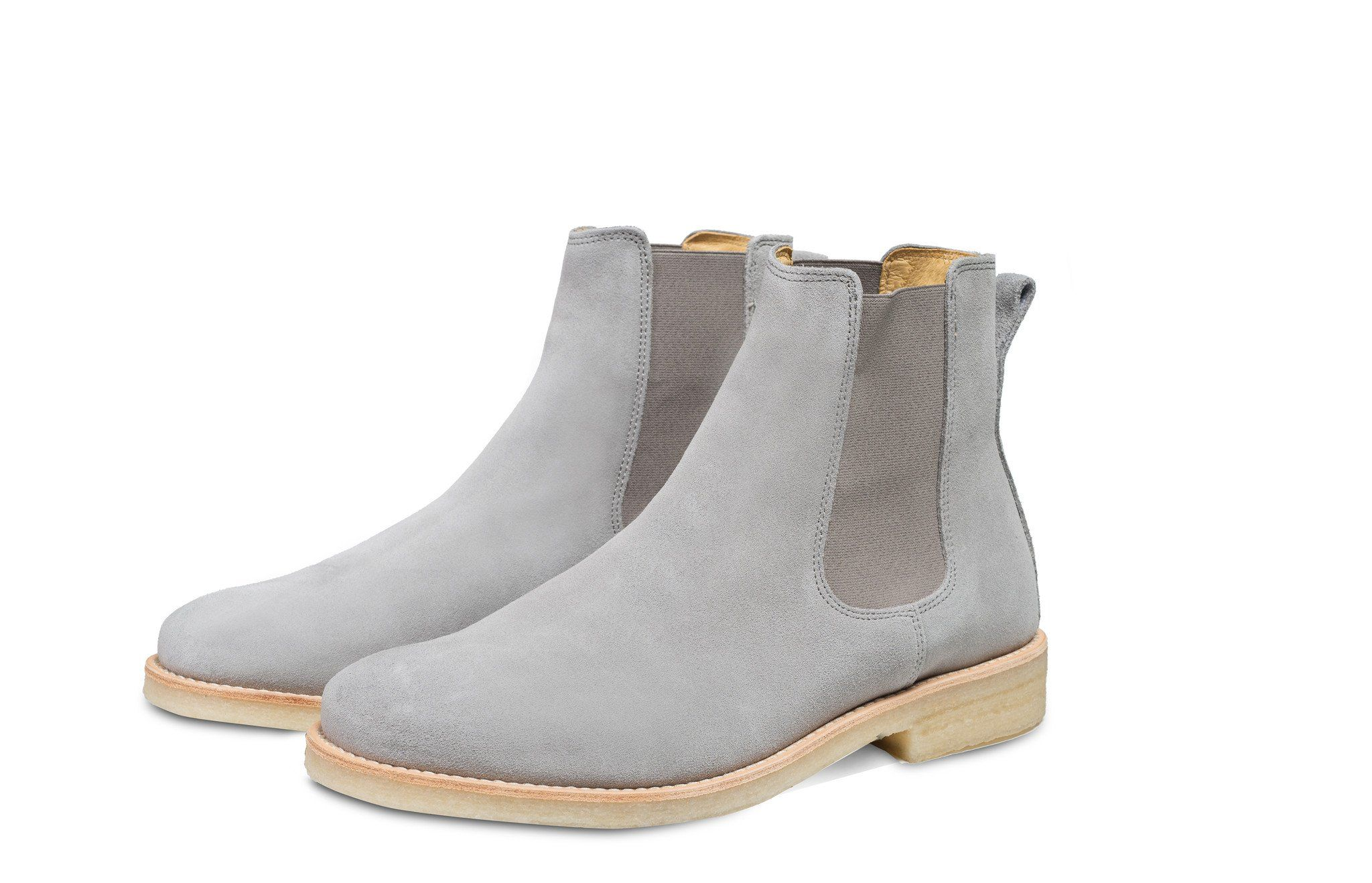 2f694348e43f5 Chelsea Boots - Light Grey | Shoes To Buy | Boots, Chelsea boots ...