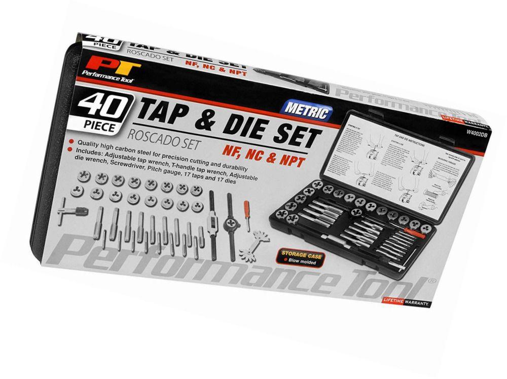 Performance Tool W4002DB 40 Pc MM Tap /& Die Set