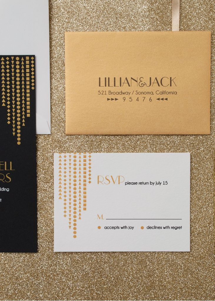 A Modern Take on Art Deco | Pinterest | Invitation suite, Gatsby and ...