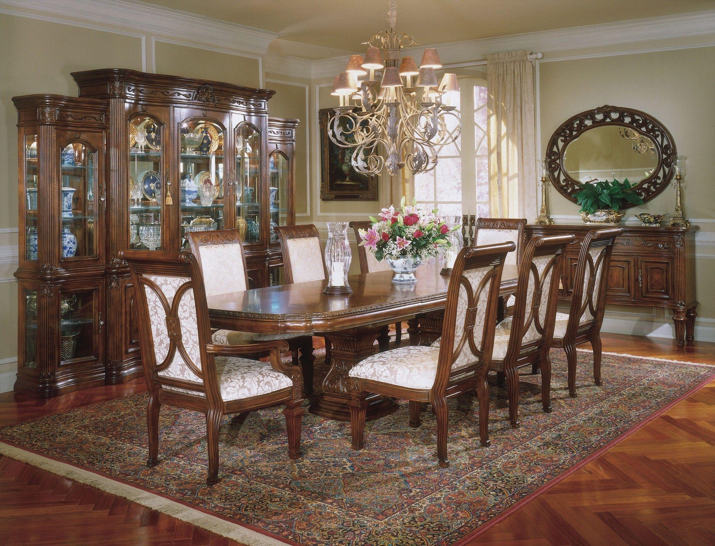 Aico Villagio Rectangular Dining Table Set By Michael Amini By