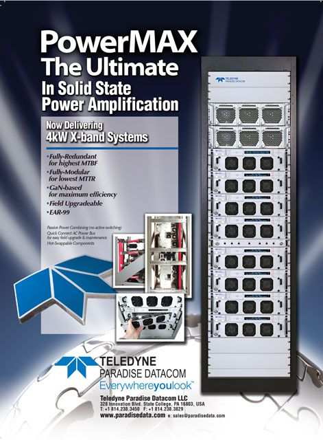 Teledyne Paradise Datacom Powermax 4kw X Band Systems System Print Ads Solutions