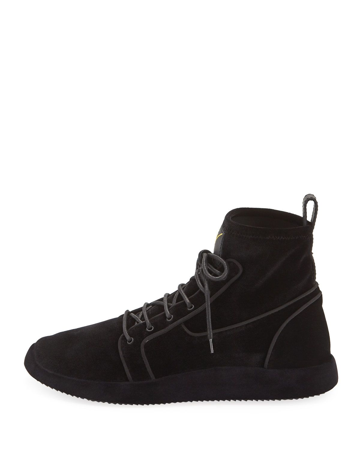 4e2af703ec4a4 Men's Land High-Top Velvet Sneakers | Products | Sneakers, High tops ...