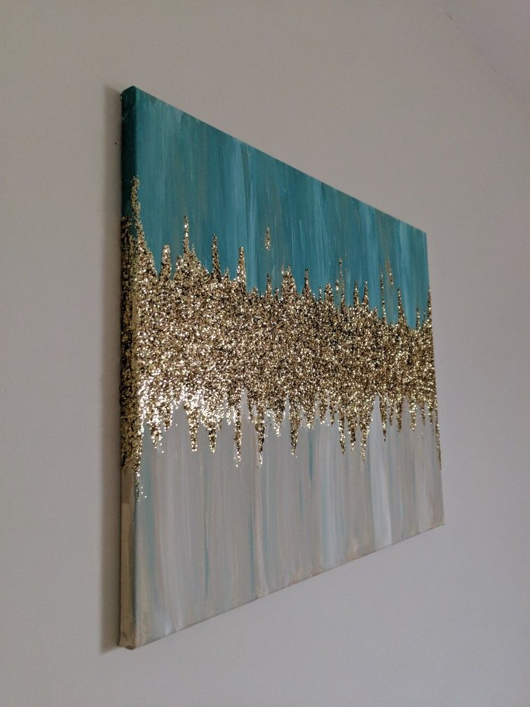 Canvas Acrylic Glitter Wall
