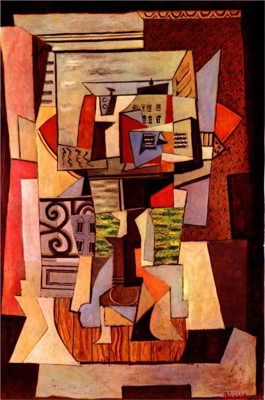 Window opened to the street Penthieure (1920) by Pablo Picasso