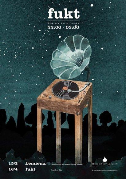 fukt #7 #posters #poster #moriskan #club #music #illustration #event