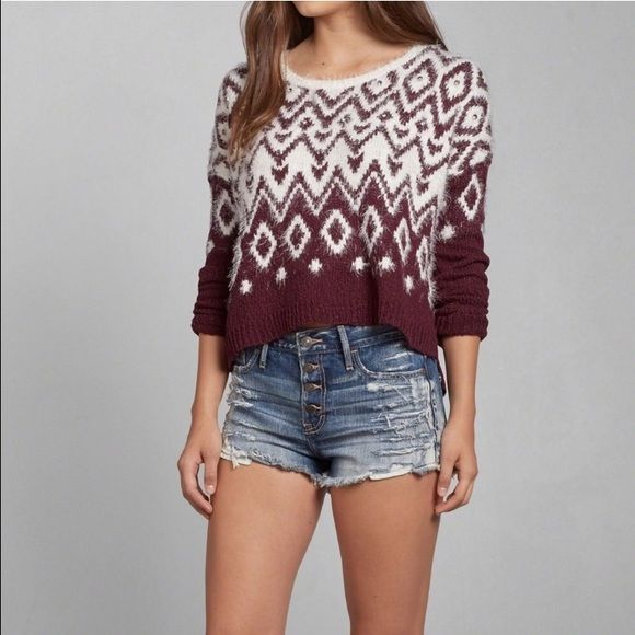 ABERCROMBIE & FITCH Micah Shine Fair Isle Sweater | Fair isles ...