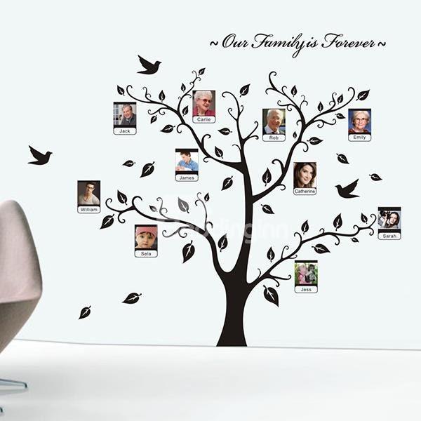 Vinilos Decorativos Removibles Marco de la Pared Diseño de árbol ...