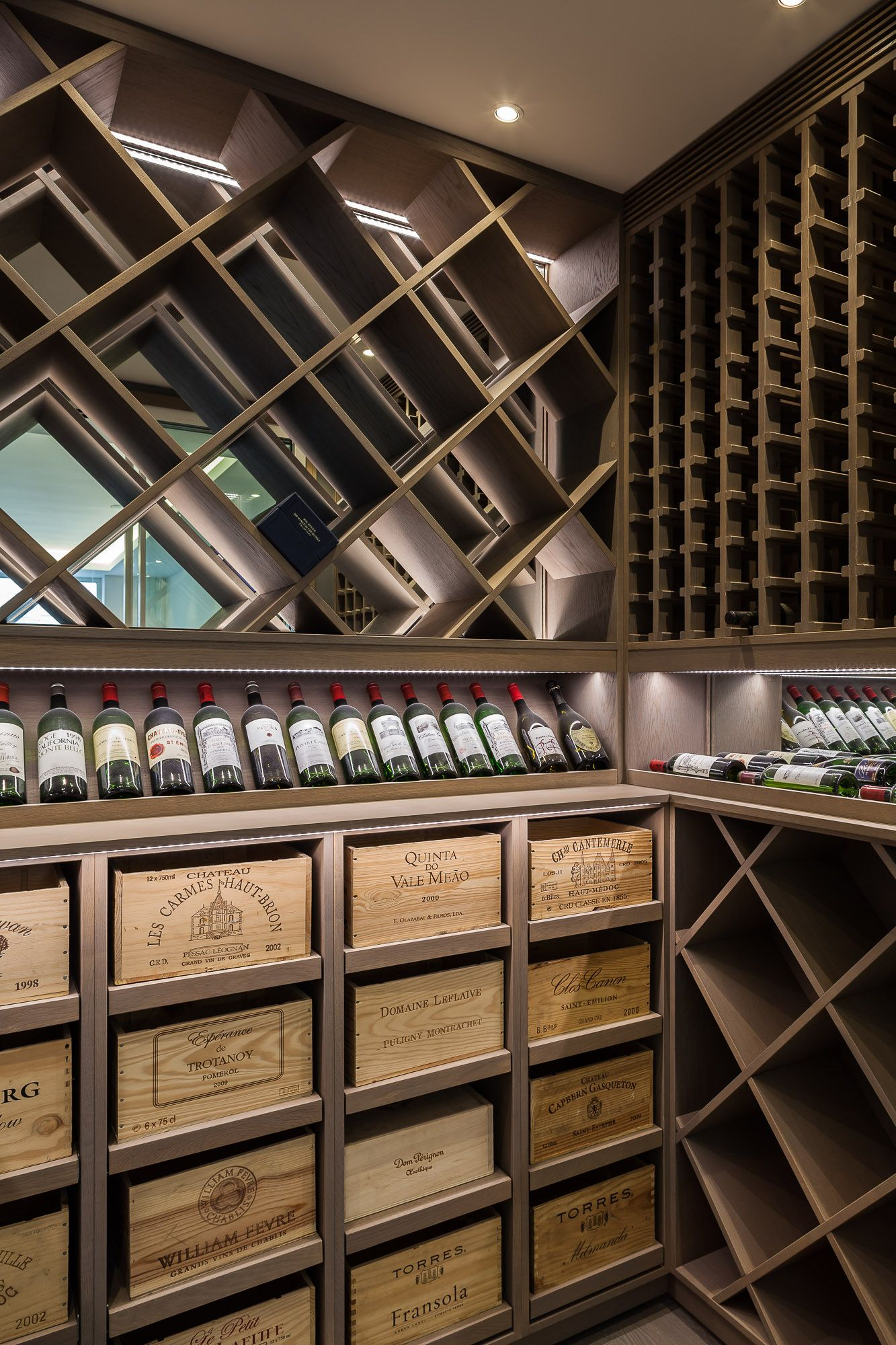 Bespoke Wine Cellar Display London #Winestorage - C - -