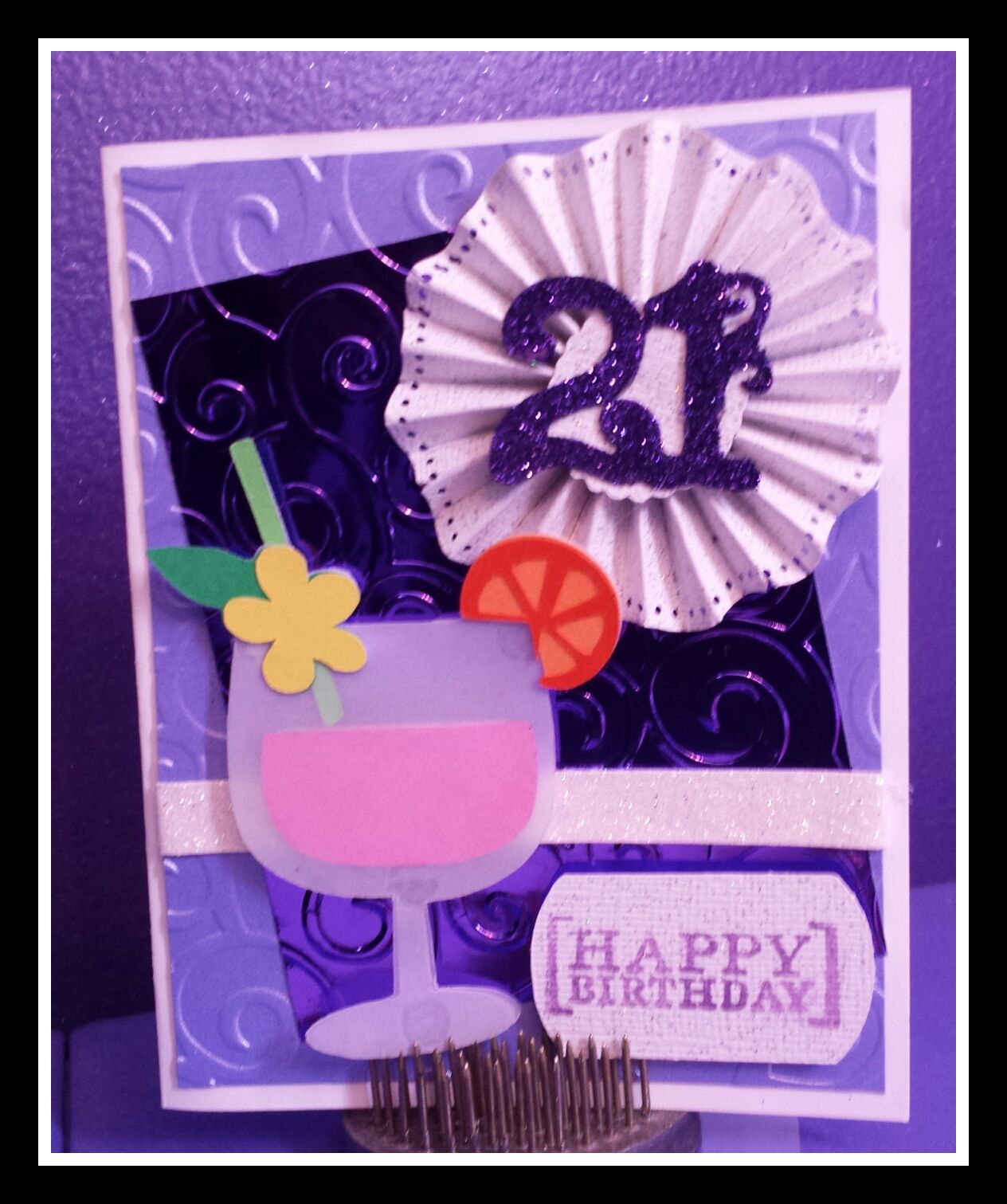 Card Making Ideas 21st Birthday Part - 44: Melody Lane Designs: 21st Birthday Card