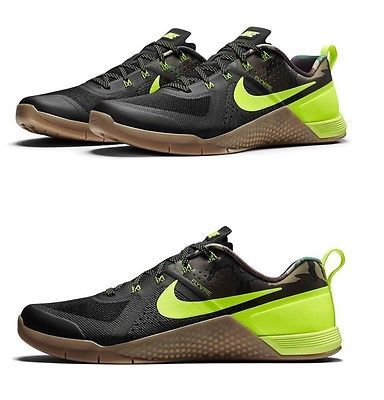 Nike Metcon 1 Amplify Limited Black Camo Volt Gum Crossfit Training