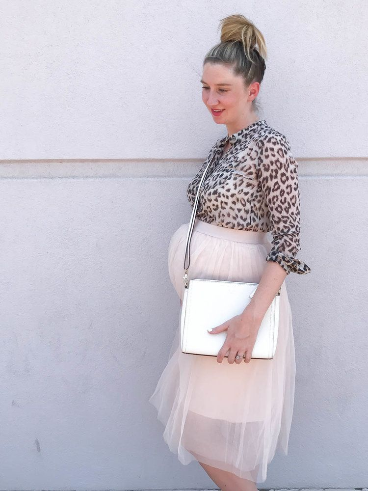 56f4cda0e0 Tulle Maternity Skirt and Leopard Top   Maternity Clothes   Bump Style  Summer   Maternity Fashion   Bump Style   Shop Pink Blush Maternity