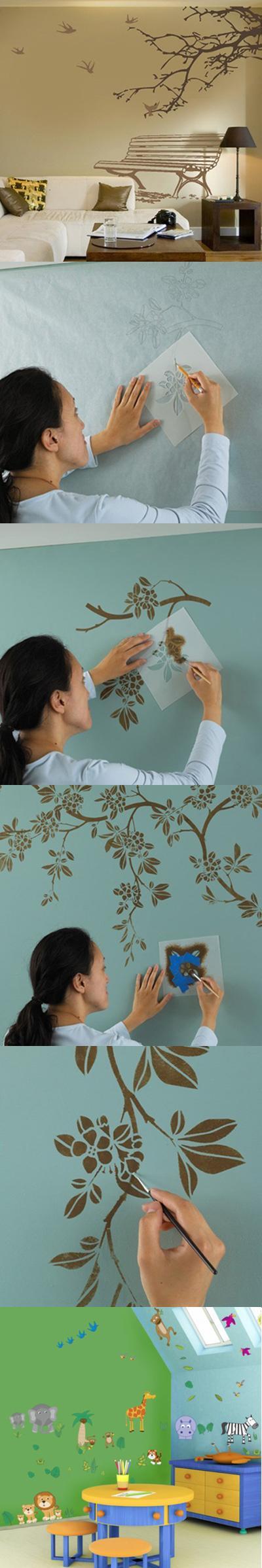 Pintura Decorativa Na Parede Vai Trazer Nova Vitalidade Para O Seu  ~ Pintura Decorativa Paredes Interiores