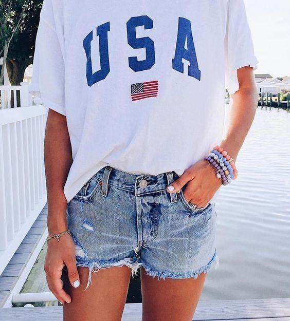 USA Flag Graphic Tee
