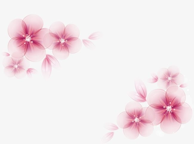 Watercolor Flowers Vector Flowers Painted Pattern Png And