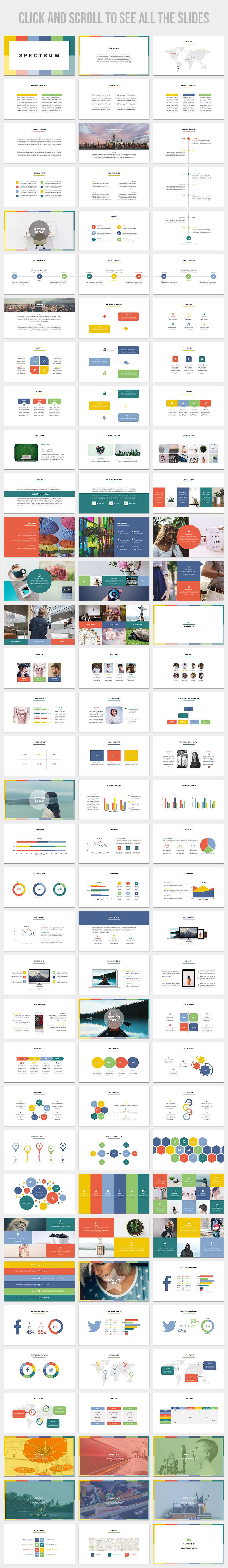 Spectrum Is A Clean Simple And Impressive Business Presentation