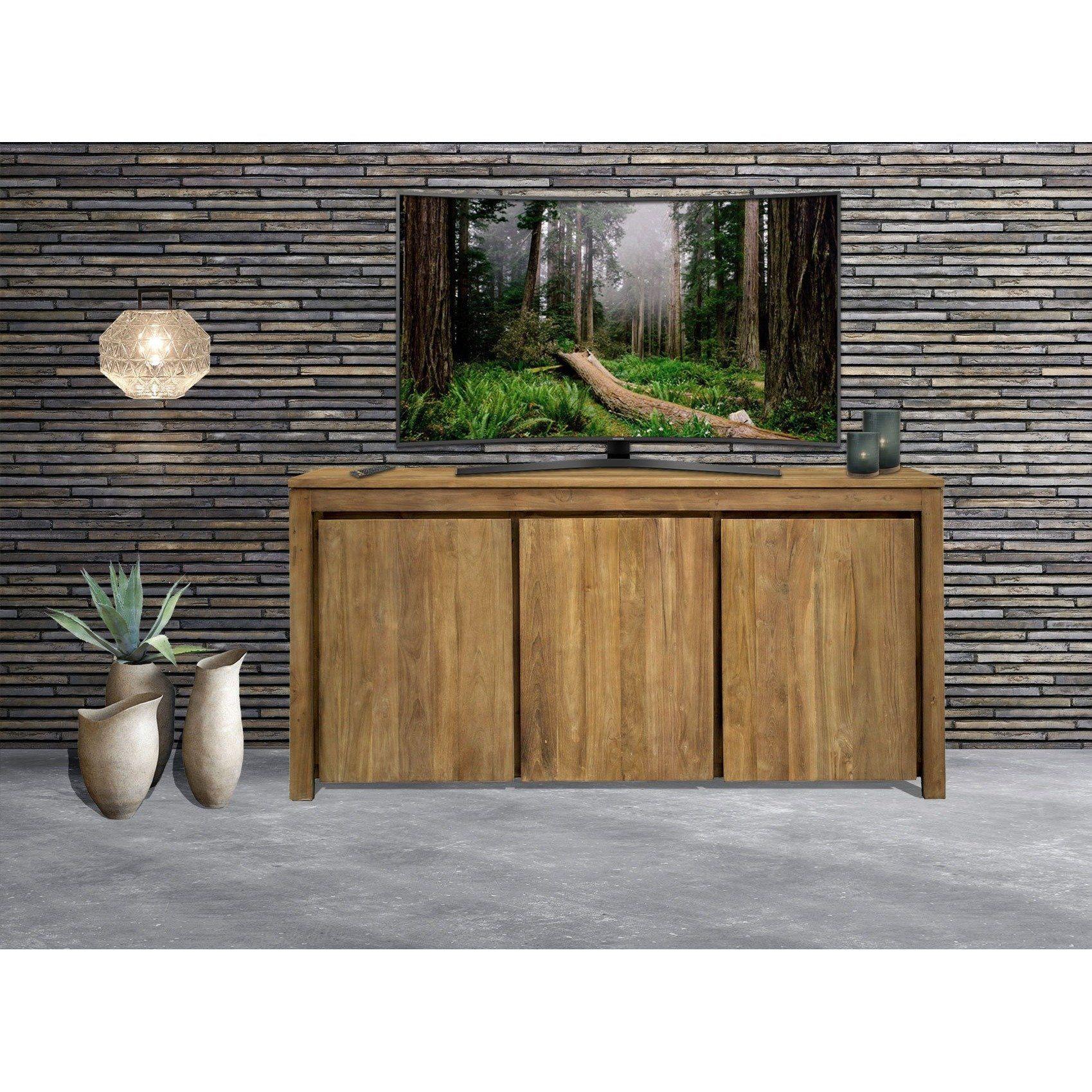 Recycled Teak Wood Solo Buffet 3 Doors