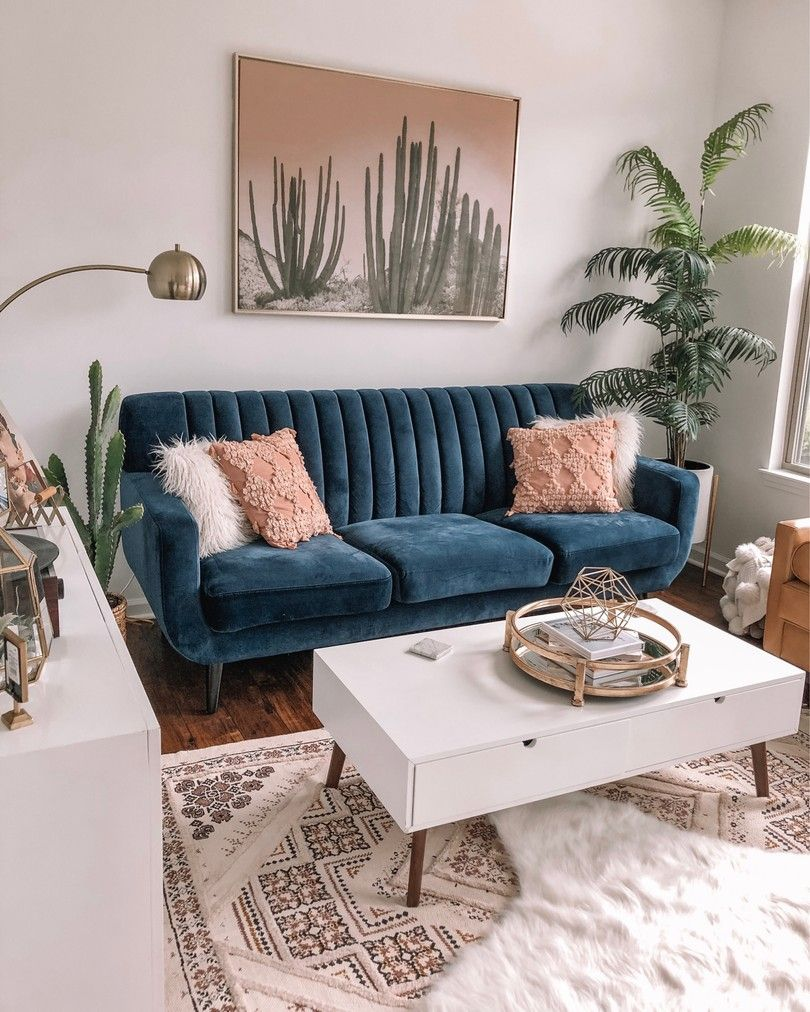 Pin By Tammy Mathews On New Remodel Modern Rustic Living Room Blue Couch Living Room Blue Sofa Living