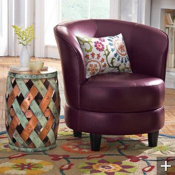 Rebecca Leather Swivel Chair Www.grandinroad.com