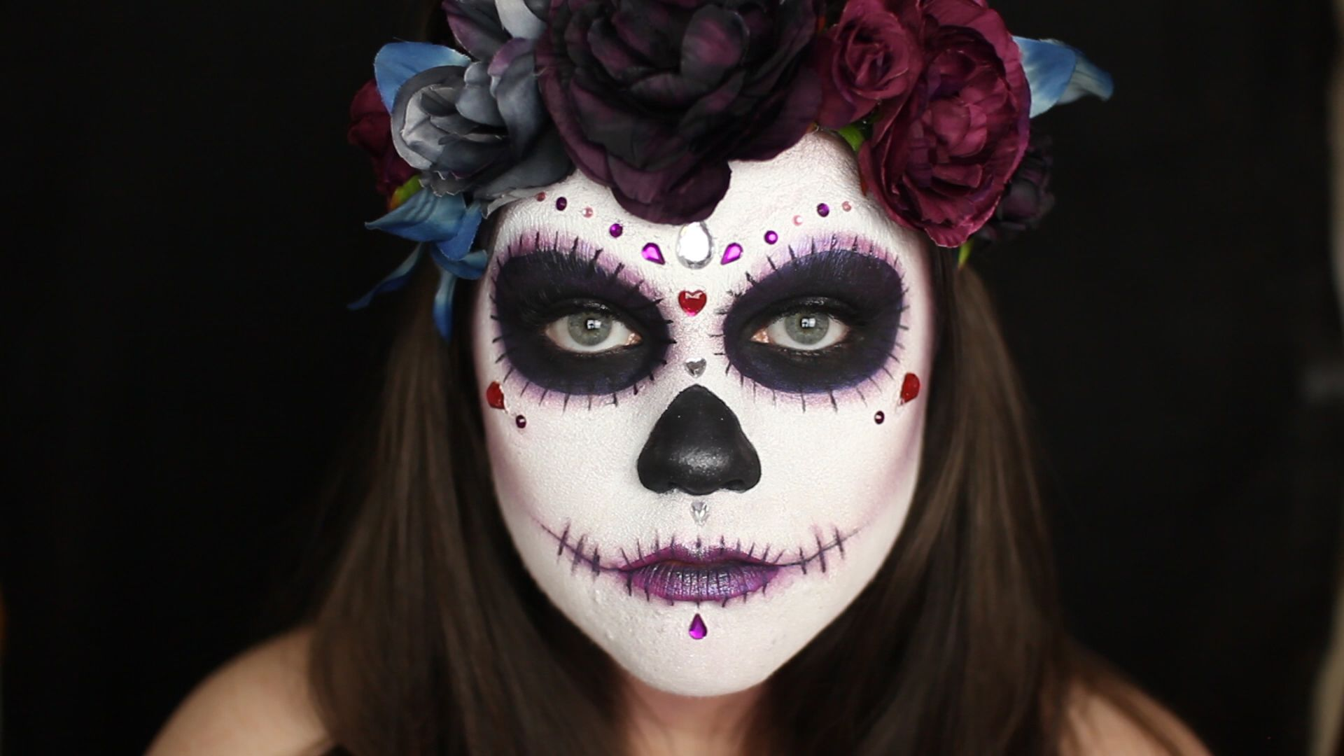 Easy Sugar Skull Makeup Tutorial halloween sugarskull