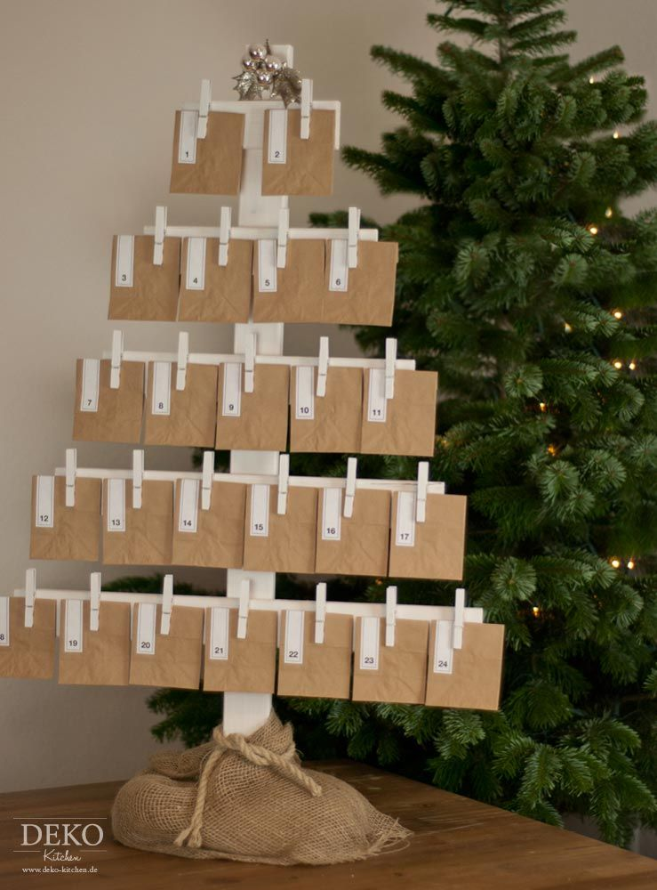 diy adventskalender aus holz deko kitchen weihnachten pinterest christmas. Black Bedroom Furniture Sets. Home Design Ideas