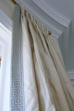 Leading Edge Trim Banding Window To The World Silk