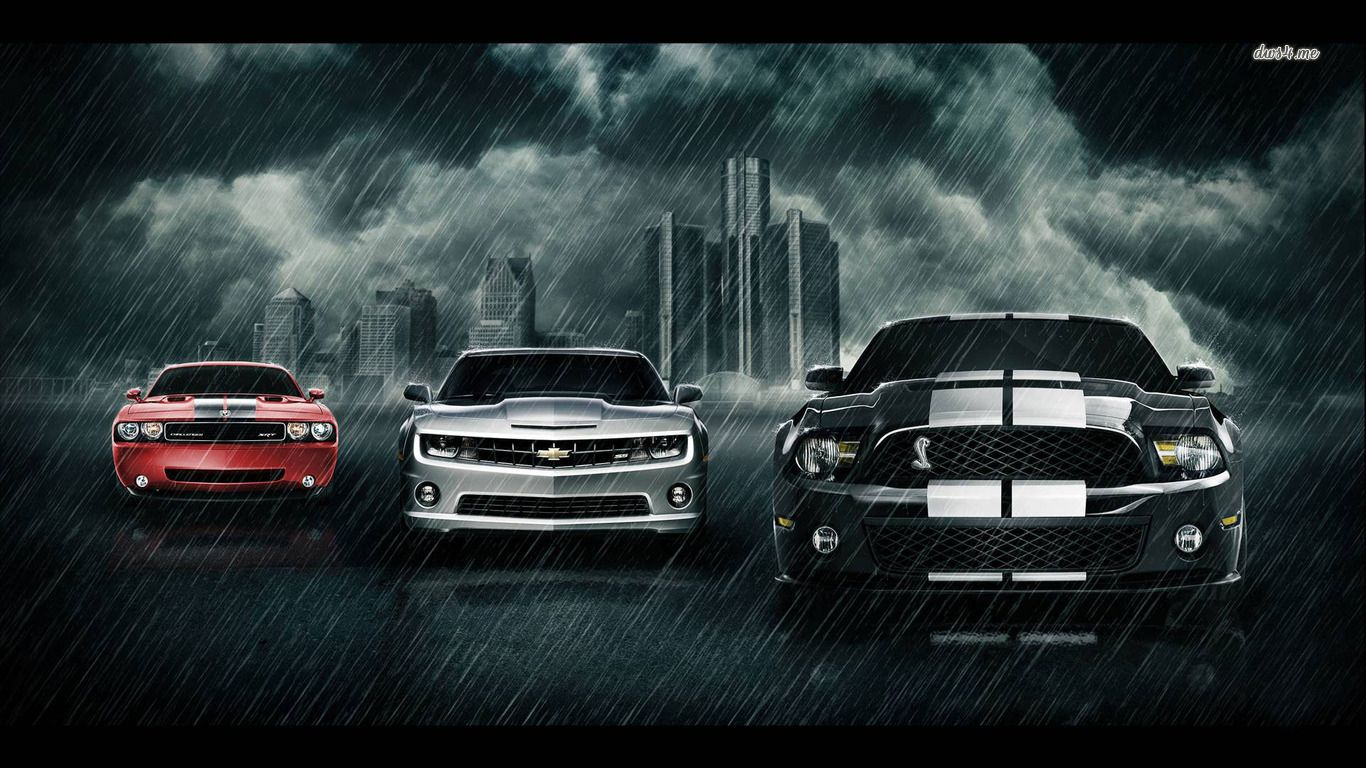 Pin Chevrolet Camaro Ford Mustang Cobra Wallpaper Car