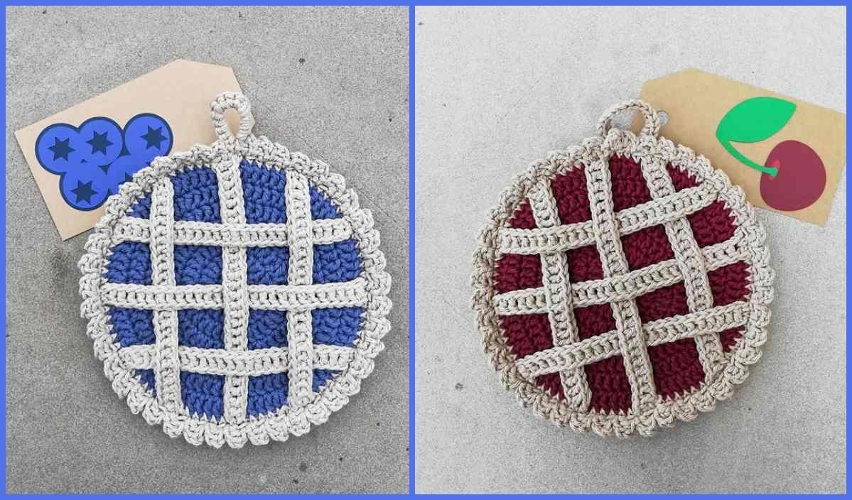 Lattice Pie Pot Holder Free Crochet Pattern Crochet Patterns