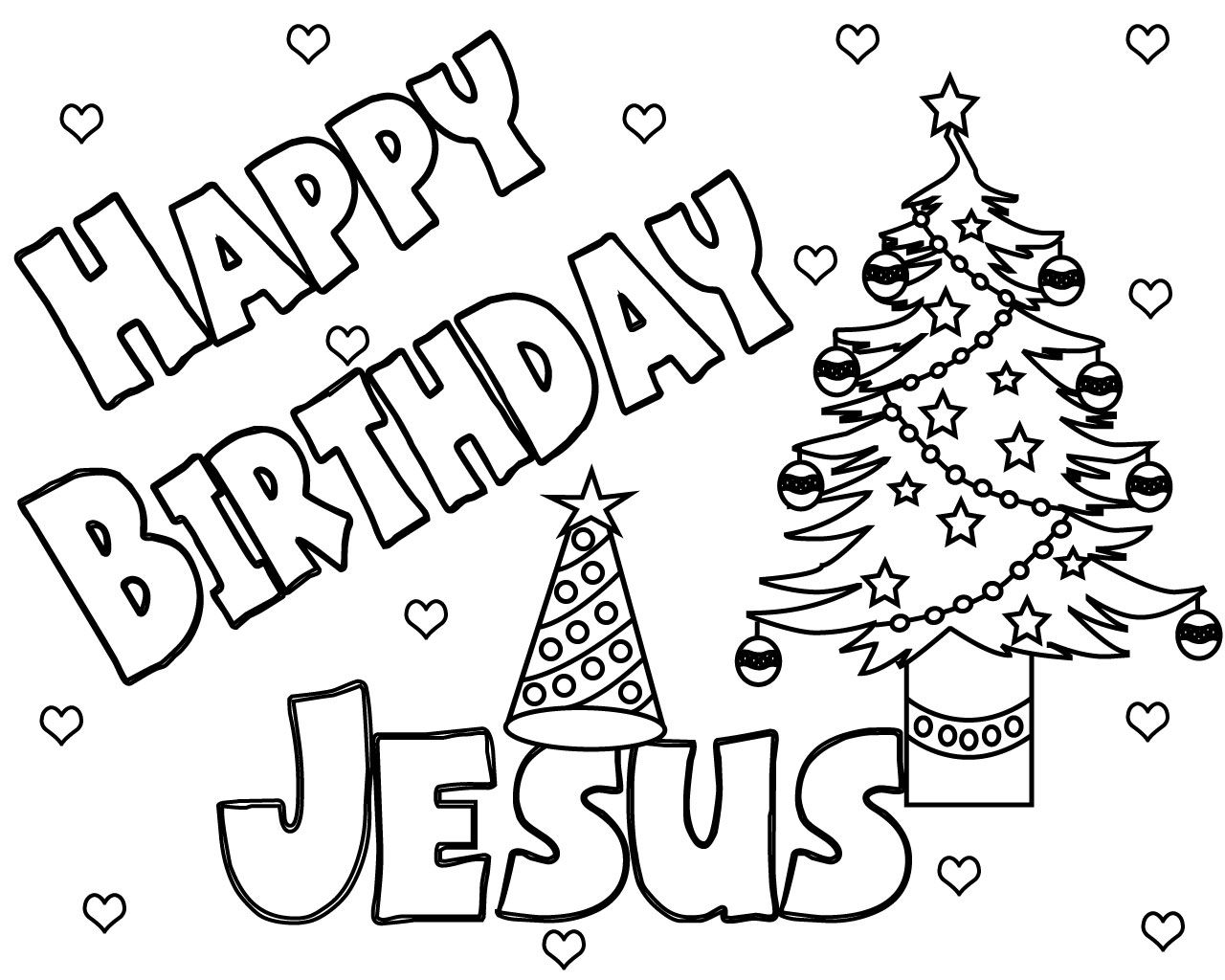 Happy Birthday Jesus Coloring Pages Free Printable Jesus