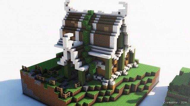 Elven Style Building Bundle house design minecraft ideas 15 ...