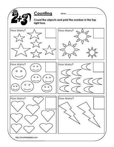 Counting Objects Worksheet 2worksheets Math Worksheet Preschool Math Worksheets Math Worksheets