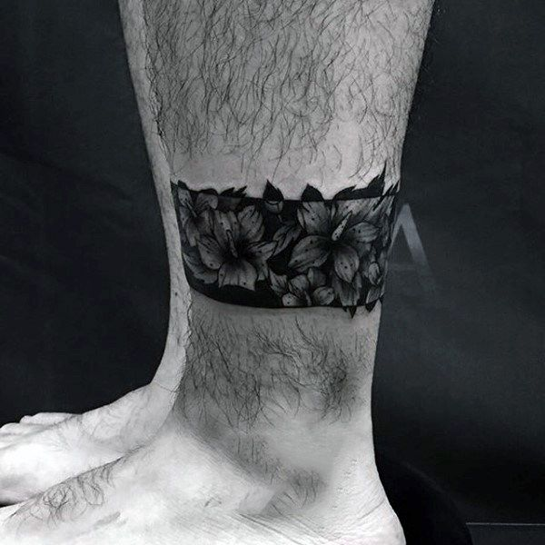 Top 43 Black Band Tattoo Ideas 2020 Inspiration Guide Band Tattoo Designs Ankle Band Tattoo Leg Band Tattoos