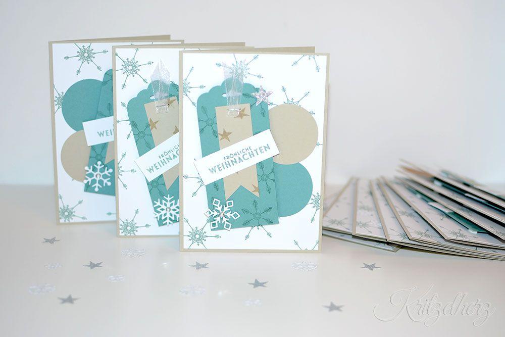 Weihnachten, Weihnachtskarte, Flockenzauber, Project Life Hello December 2015, Stampin' Up!, Kritzelherz, Karte, Workshop, Linz, Ebensee