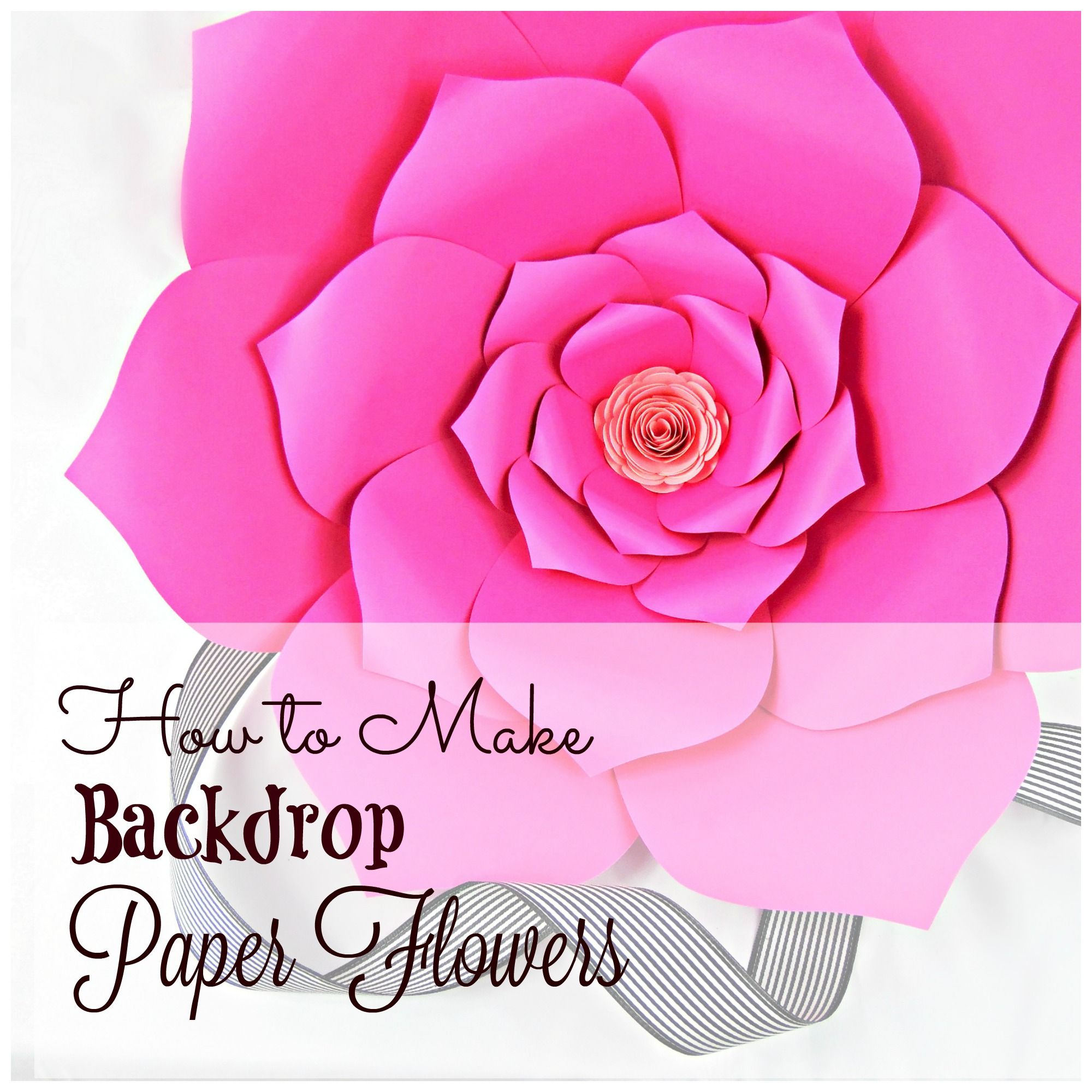 Easy To Learn Backdrop Large Paper Flowers Over 30 Flower Templates