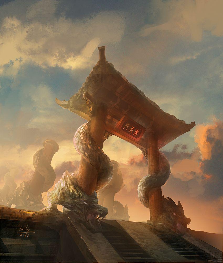 The entrance of heaven by xiaoxinart.deviantart.com on @deviantART