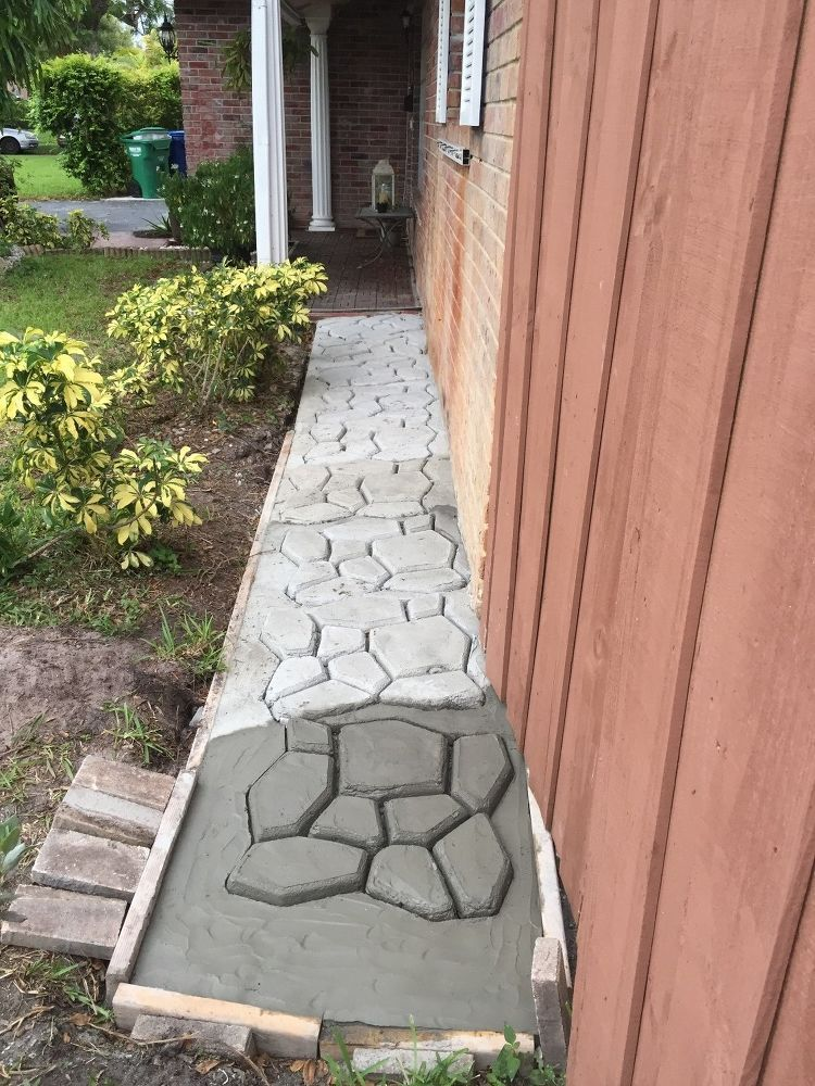 Garden Cobblestone Design Walkpath Backyard landscaping