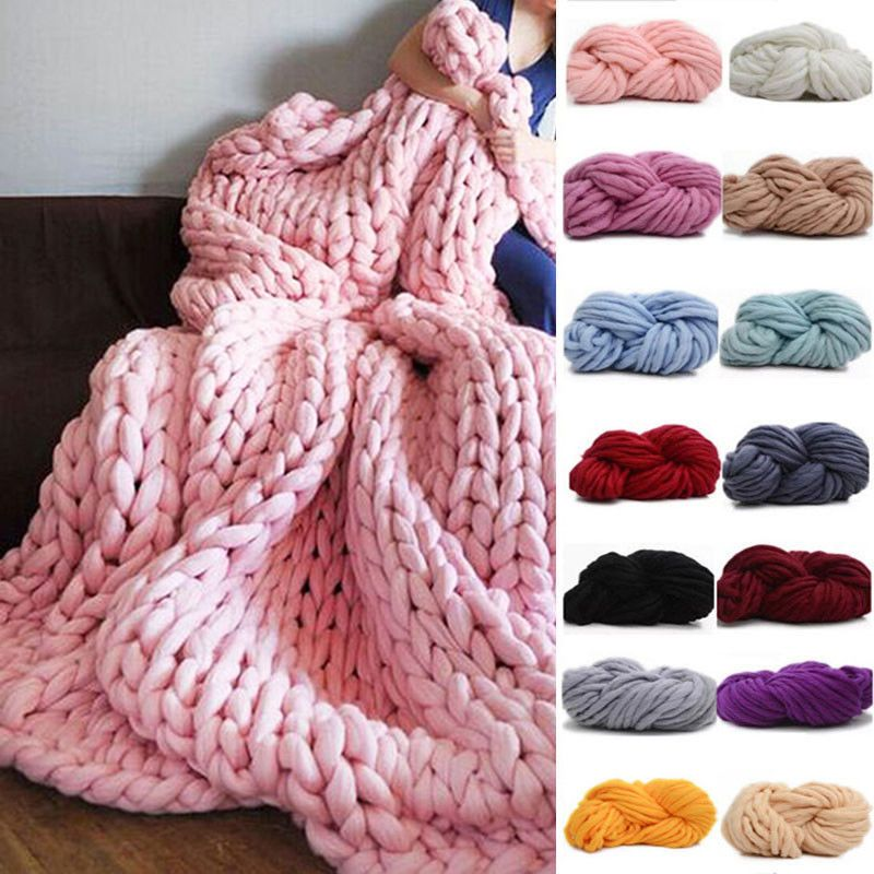 250g Soft Super Thick Big Spinning Roving Bulky Chunky Hand Knitting Ply Yarn Us Arm Knitting Wool Diy Wool Knitting Yarn Diy