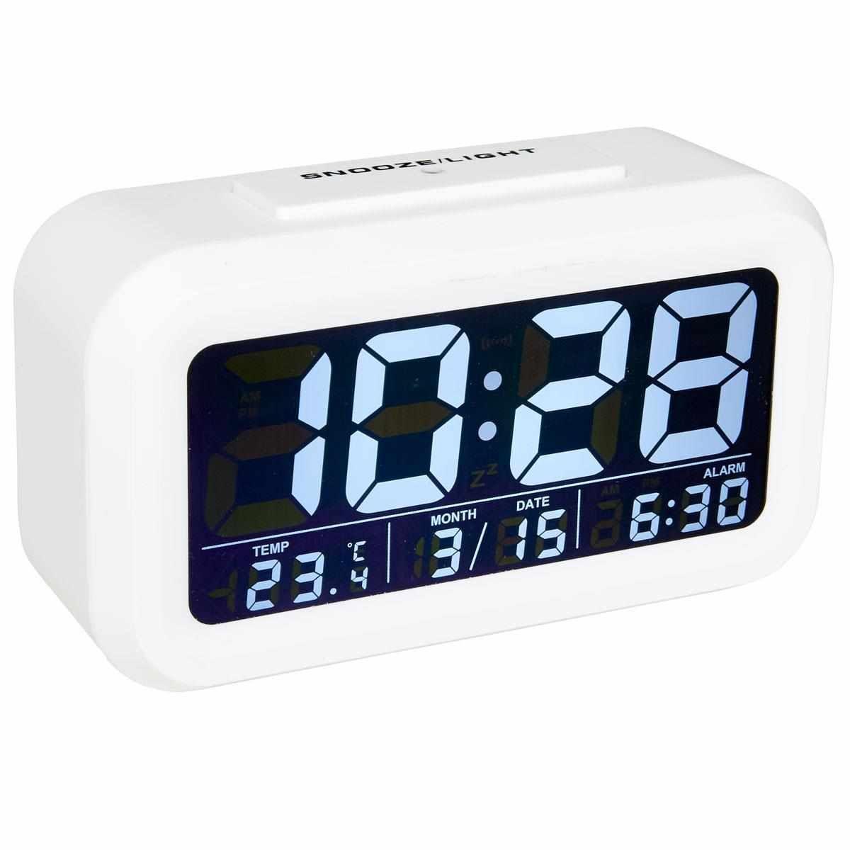 Alarm Clock White Audiosonic