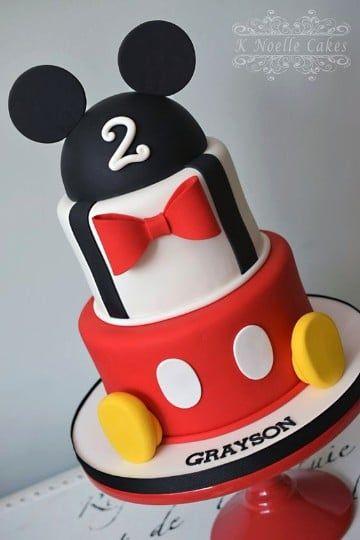 Imágenes Con Decoraciones De Pasteles De Mickey Mouse Bebe