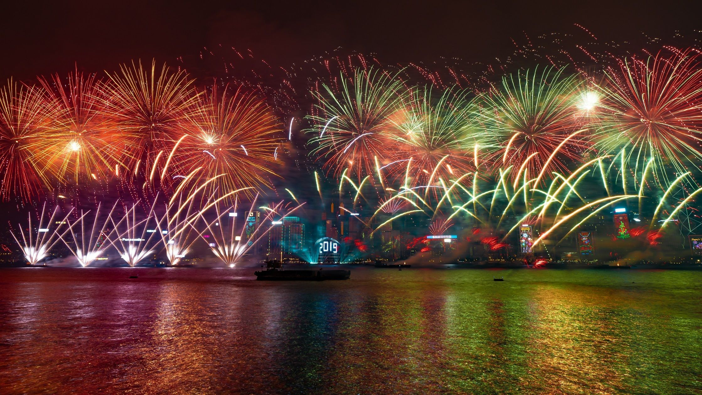 Fireworks And Stunning Pyrotechnics Will Reign Supreme At Hong Kong S Spectacular New Year S Eve Countdown Photo Calendar New Year S Eve Countdown Photo