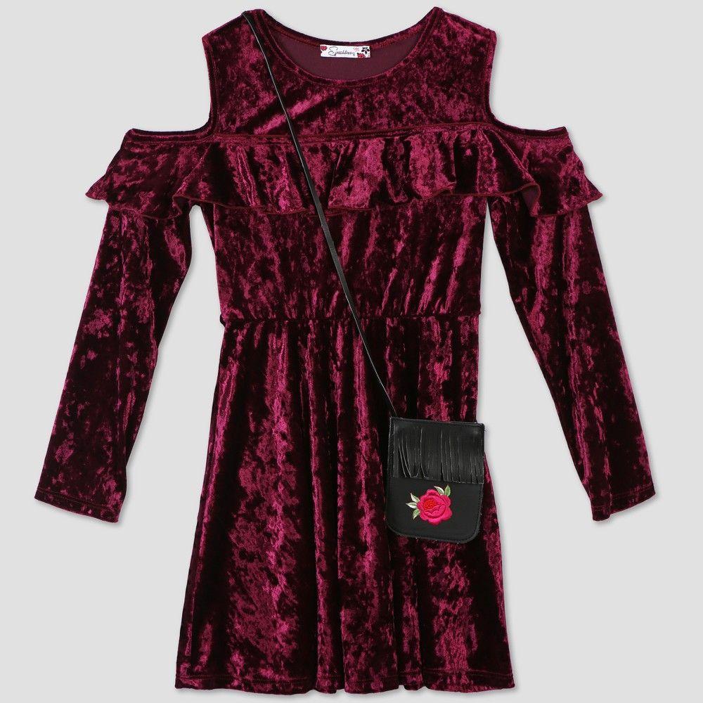 975ca3d5e4de1 Lots of Love by Speechless Girls  Velvet Dress - Wine 10