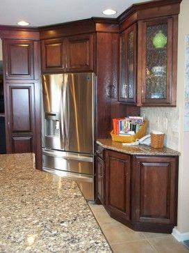 Corner Refrigerator Design Ideas Pictures Remodel And Decor