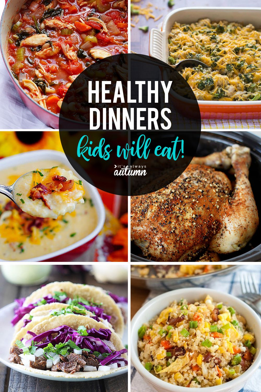 Have picky eaters? Click through for 20 healthy recipes that kids will love. Healthy dinner ideas for families. #itsalwaysautumn #recipes #healthymeals #healthyrecipes #healthydinners #maindish