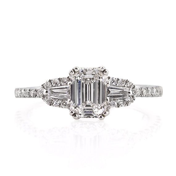 1.36ct Emerald Cut Diamond Engagement Anniversary by MarkBroumand
