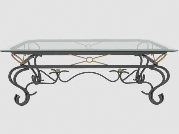 Superior Glass And Metal Coffee Table