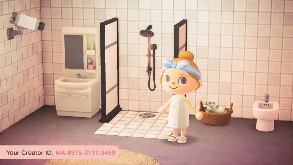 Https Www Reddit Com R Acqr Comments G63fly Made Some Wallmatching Tiles With A Drain For My In 2020 Animal Crossing Game Animal Crossing Qr Animal Crossing