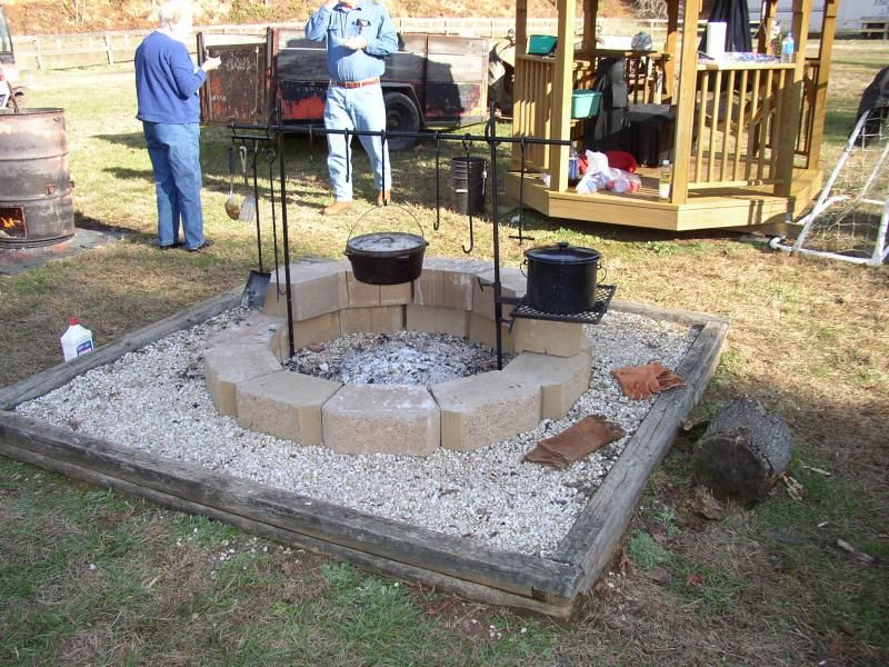 Open Pit Cooking Equipment Open Fire Forge Campfire Cooking At